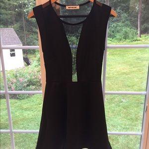 Black skater dress with all mesh back